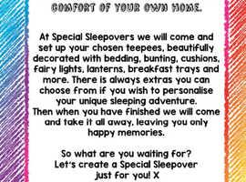 SPECIAL SLEEPOVERS