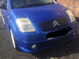 Citroen C2, 2004 (54) Blue Hatchback, Manual Petrol, 12,345 miles