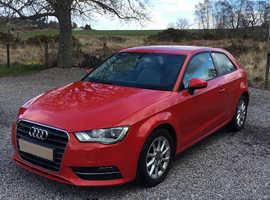 Audi A3, 2013 (13) Red Hatchback, Semi auto Petrol, 41,878 miles