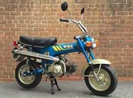 Honda st70 what a lovely little bike to put in your camper van or in the back of your car tosave walking when on your hol's