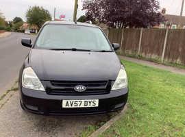 Kia Sedona, 2007 (57) Black MPV, Manual Diesel, 139,751 miles