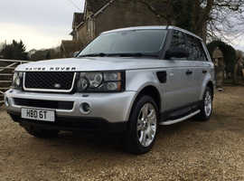 Land Rover Range Rover Sport, 2005 (05) Silver Estate, Automatic Petrol, 93,000 miles