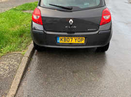 Renault Clio, 2007 (07) black hatchback, Manual Petrol, 1070000 miles