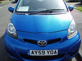 Toyota Aygo, 2009 (59) Blue Hatchback, Manual Petrol, 82,606 miles