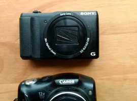 Sony and Canon cameras