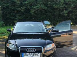 Audi A4, 2006 (56) Black Saloon, Manual Diesel, 208,000 miles