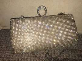Gold diamond shoulder bag