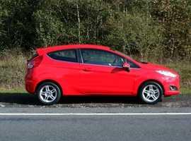 Ford Fiesta, 2013 (63) Red Hatchback, Manual Petrol, 78,000 miles