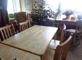 Pine Table with matching chairs