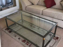 Coffee Table / Occasional Table , Glass with Chrome Edging.