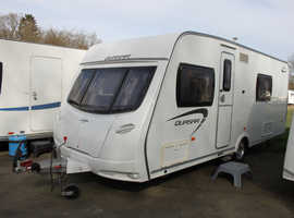Lunar Quasar 544 2012 4 Berth Fixed Bed Caravan + Motor Movers + One Owner from New + 3 Months Warranty Included