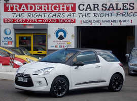 Citroen Ds3, 2014 (64) White Convertible, Manual Diesel, 40,861 miles