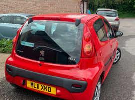 Peugeot 107, 2011 (11) Red Hatchback, Manual Petrol, 38,964 miles