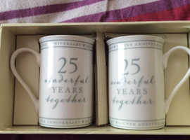 Anniversary cups - Box a bit damaged but cups unused