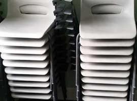 20 x Light grey polypropylene chairs