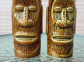 Two Tiki  Vases (Moai Teeth Mug)