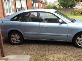 Mazda 626, 2002 (51) Blue hatchback, Manual Petrol, 136,500 miles