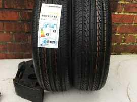 2 x 195/70R14 New Nankang Tyres