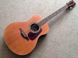 Vintage parlor size acoustic guitar