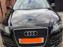 Audi A3, 2012 (61) Black Hatchback, Manual Diesel, 106,710 miles