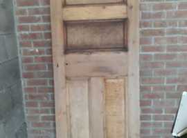 Victorian Edwardian Antique Pine Door
