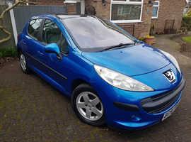 Peugeot 207, 2006 (56) Blue Hatchback, Manual Petrol, 67,481 miles