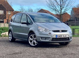 Ford S-Max, 2006 (56) Silver MPV, Manual Diesel, 146,777 miles,long mot 7 seater leather