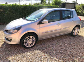 Renault Clio 2006 (56) Silver Hatchback Manual Petrol, 83,778 miles beautiful leather int, high specification