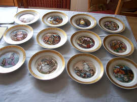 Royal Copenhagen Hans Christian Andersen Plates Full set of 12