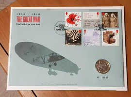 2017 The Great War Aviation £2 coin cover,Two pound