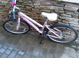 "Girls mountain bike, 24"" wheels 18 speed"