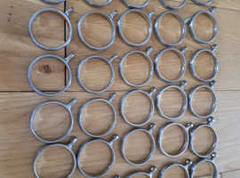 Pack of 30 Brushed Chrome Curtain Rings