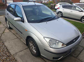Ford Focus, 2003 (53) Silver Hatchback, Manual Petrol, 123,500 miles