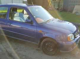 Nissan Micra, 2002 (02) Blue Hatchback, Manual Petrol, 114000 miles