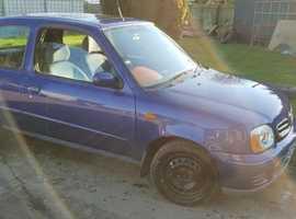 Nissan Micra, 2002 (02) Blue Hatchback, Manual Petrol, 114000 miles