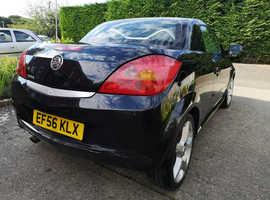 Vauxhall Tigra, 2007 (56) Black Convertible, Manual Petrol, 115,000 miles