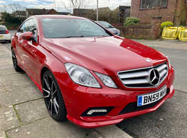 Mercedes E Class, 2009 (59) Red Coupe, Automatic Diesel, 82,000 miles