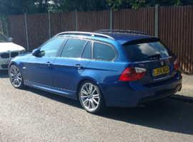 BMW 3 Series, 2006 (56) Blue Estate, Manual Diesel, 141,344 miles