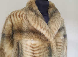 ASTRAKA Vintage Faux Fur Coat Large to Extra Large 16-20 approx see description