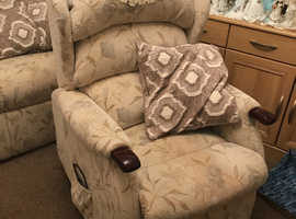 Electric riser recliner armchair with matching 2 seat sofa