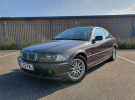 BMW 3 Series, 2002 (02) Purple Coupe, Manual Petrol