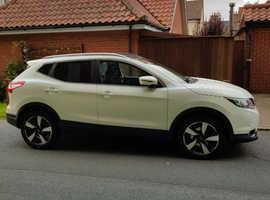 Nissan Qashqai, 2015 (15) White Hatchback, Manual Diesel, 35,200 miles