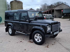 Land Rover Defender, 2008 (08) Black Estate, Manual Diesel, 173,426 miles