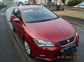 Seat Leon, 2013 (63) Red Hatchback, Semi auto Diesel, 104,000 miles