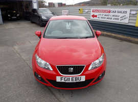 2011/11 Seat Ibiza 1.4 SE Chill finished in Flame Red. 69,558 miles