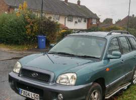 Hyundai Santa Fe, 2004 (04) Green Estate, Manual Diesel, 91,965 miles