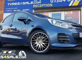 """17"""" inch Calibre Motion Wheels in Black and polished for Kia Rio"""