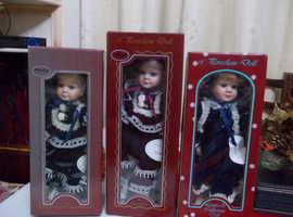 "3 of 12"" leonardo dolls melissa, penelope, ursula"