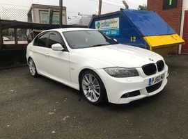BMW 320D, 2010 (60) white saloon, Manual Diesel, 179,000 miles