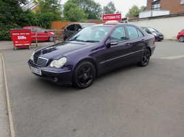 Mercedes C CLASS, 2003 (52) Purple Saloon, Automatic Petrol, 82,000 miles